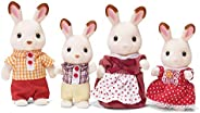 Calico Critters 印花布小動物玩偶,兔子Hopscotch,家庭娃娃屋收藏玩具