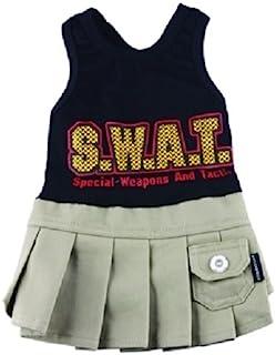 Doggy Dolly C168 狗裙子 SWAT 女孩,黑色 XXL Brust 56-58cm, Rücken 36-38cm