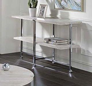 Q-Max 76.2 cm 高现代风格沙发桌橡木和铬,白橡木