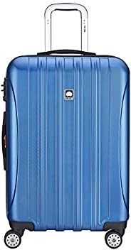 Delsey Helium Aero 25 英寸可擴展旋轉手推車 Blue Textured 均碼