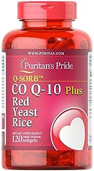 Puritan's Pride 普丽普莱 Q-Sorb 辅酶 Q10 + 红曲米速释软胶囊,1