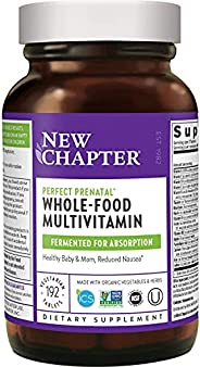 New Chapter 完美产前维生素,192 ct,Non-GMO成分,有益于婴儿和妈妈-叶酸(甲基叶酸),铁,维生素D3,全脂食品和益生元发酵