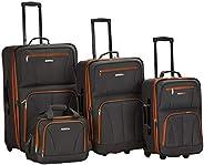 Rockland 行李旅行软边直立套装 炭黑色 4-Piece Set (14/19/24/28)