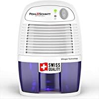 Pohl Schmitt 迷你*機,17 盎司(約 481.9 克)水箱,超靜音 - 小型便攜式設計,適用于家庭、地下室、浴室和臥室 - 去除空氣*,防止塵螨、霉菌和霉變