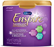 EnfamilEnspire美赞臣蓝臻Gentlease婴儿配方奶粉适合012个月婴儿20盎司/约566.99克1件MFGM,乳铁蛋白(在初乳中发现),Omega3DHA,铁