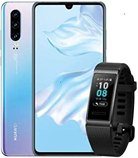 HUAWEI 華為 P30 套裝產品 Breathing Crystal SIM 無鎖版智能手機 + BAND 3 PRO/BK