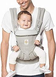 ERGObaby OMNI 360 Cool Air Mesh 透气网眼 符合人体工程学 婴儿背带 适合所有携带姿势 Pearl Grey 均码
