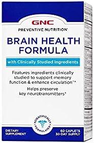 GNC 健安喜 预防营养脑补充剂,60 粒,支持机体功能并促进循环
