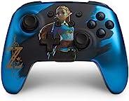 PowerA 增强版无线控制器 适用于 Nintendo Switch 和 Nintendo Switch Lite - 蓝色塞尔达
