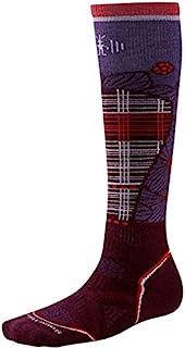 Smartwool 女士 PHD 滑雪中号图案袜子 - 紫红色