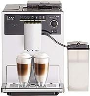 Melitta Caffeo CI E970-101 全自动咖啡机,带牛奶箱,双室咖啡豆槽,一键功能,15巴,自动清洁程序,银色