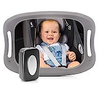 reer 86101 BabyView LED 汽车*镜 – 宝宝在后座上始终看见 灰色