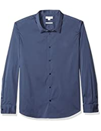 Calvin Klein 男士彈性純棉紐扣襯衫
