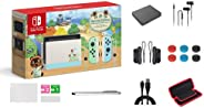 Nintendo 任天堂 Switch Animal Crossing: New Horizons Edition 32GB 控制台套装,淡*和蓝色 Joy-Con,6.2 英寸触摸屏液晶显示屏,家庭和节日礼品,W/ G
