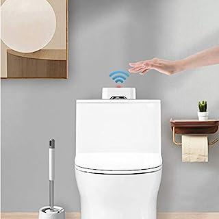 Live Trend 无触摸式马桶冲洗器 - 白色,防水,便携,电池操作的红外线尿传感器,带 USB 电缆,垫圈 | 冲洗套件