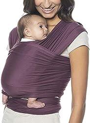 Ergobaby Aura 婴儿背带包裹,适用于新生儿到幼儿(7-25 磅),酒红色
