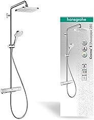 Hansgrohe 汉斯格雅 Croma E 节水型淋浴花洒套装(花洒头,花洒杆,恒温器,软管,4种喷淋模式),镀铬