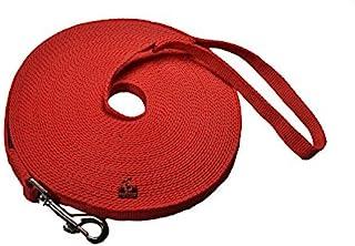 Downtown 宠物用品狗/小狗的Obedience Recall 训练敏捷牵引线 红色 50 Foot