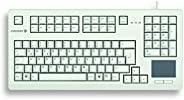 Cherry G80-11900LUMDE-0 半紧凑 USB 键盘带集成触摸板 - 浅灰色