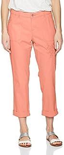 Lee 女式直筒修身刺绣波西米亚七分工装裤
