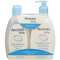 Aveeno 艾惟諾 溫和保濕日常護理套裝 天然燕麥提取物 天然膠體燕麥片 2件