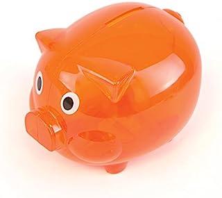 eBuyGB 透明塑料小猪存钱罐 橙色 0.99 x 0.99 x 0.99 cm 1304710