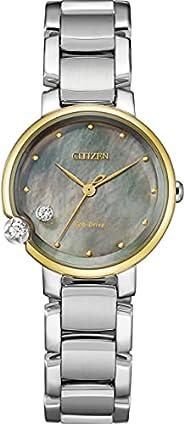 Citizen 西铁城 腕表 光动能 Round Collection EW5584-81Y 女士 银色