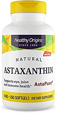 Healthy Origins 虾青素软胶囊(AstaPure),4毫克,150粒