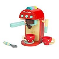 Le Toy Van - 蜂蜜烘焙木制咖啡机套装假装厨房玩具套装| 儿童角色扮演玩具厨房配件