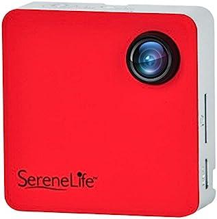 SereneLife 卡夹式可穿戴摄像头 1080p 全高清,带内置 Wi-Fi,适合课堂录制讲课、运动、慢跑、骑自行车、远足、钓鱼和露营。 (SLBCM18RD)