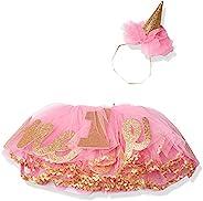 Mud Pie Baby Girls' Glitter Party Hat Headband and Tutu