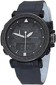 Casio 卡西欧 男士 Pro Trek 太阳能硅胶手表 黑色/白色 PRG-650Y-1CR