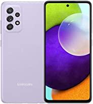 Samsung 三星 A52 | SM-A525M/DS | 128GB 6GB RAM | 国际型号 | 工厂解锁(仅限 GSM | 不兼容Verizon/Sprint)(真棒紫色)