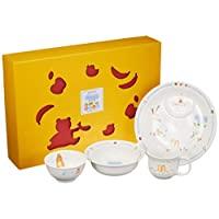 NARUMI 鳴海 兒童用 餐具組合裝 大家一起用餐吧!4個組合裝 微波爐&烤箱可用 日本制造 40433-33139