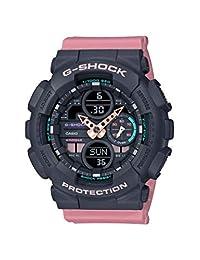 CASIO 中性成人模拟 - 数字石英手表带树脂手镯 GMA-S140-4AER