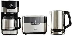SENYA 早餐套装 带可编程的保温壶(SYBF-CM009)+触摸烤面包机和两个大槽(SYBF-T022)+不锈钢水壶(SYBF-K037)