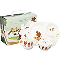 NARUMI 鳴海 兒童用 餐具組合裝 小熊學校 3個組合裝 微波爐洗碗機可用 41027-32973