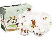 NARUMI 鸣海 儿童用 餐具组合装 小熊学校 3个组合装 微波炉洗碗机可用 41027-32973