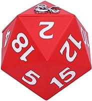 Nemesis Now 官方*地下城与龙D20骰子收纳盒,红色,13.5厘米