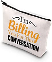 有趣的律师礼品律师化妆包女式 I'm Billing You For This Conversation 旅行化妆袋适用于律师、法律法官学生教师律师事务所未来律师礼物, 账
