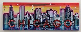芝加哥伊利诺伊州日落天际线箔磁贴