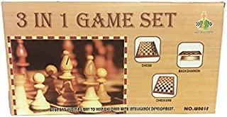 Fun Toys 10475 – 3 合 1 Chess/Checkers,后门游戏,25厘米,小号