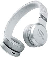 JBL Live 460NC - 无线贴耳式降噪耳机,电池寿命长和语音辅助控制 - 白色