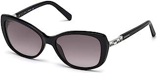 Swarovski SK0124 01B 黑色 SK0124 椭圆太阳镜镜片类别 3 尺寸 56mm