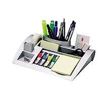 Post-It C50桌面收納,可改善工作流程,帶有筆記索引標簽和透明膠帶,裝有文具和用品