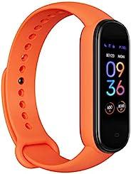 Amazfit Band 5 健身追蹤器,內置 Alexa ,15 天電池壽命,血氧,心率,*監測,女士*跟蹤,音樂控制,防水,橙色