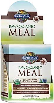 Garden of Life 生命花园代餐 - RAW植物蛋白粉,巧克力,素食,无麸质,10板装;