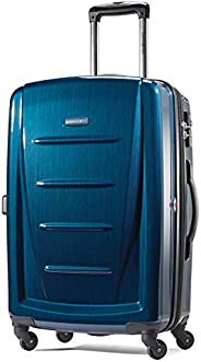 "Samsonite 新秀丽 Winfield 可扩展行李箱,24 \""(约0.61米),深蓝色,Checked-medium"