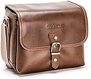 OLYMPUS 奥林巴斯 Tracker经典设计复古相机包(棕色)