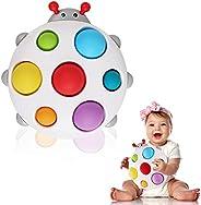 DOLIVE 婴儿简单凹陷玩具 硅胶翻转瓢虫板 早期教育自闭* 儿童感官玩具 * 方便玩具 适合 6 个月以上、12 个月、18 个月、2 岁、3 4 岁男孩女孩的礼物